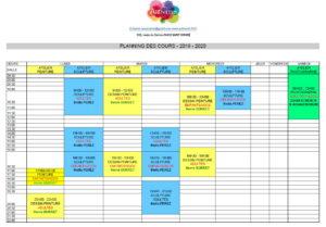 Planning Cours Arthémis-2019-2020